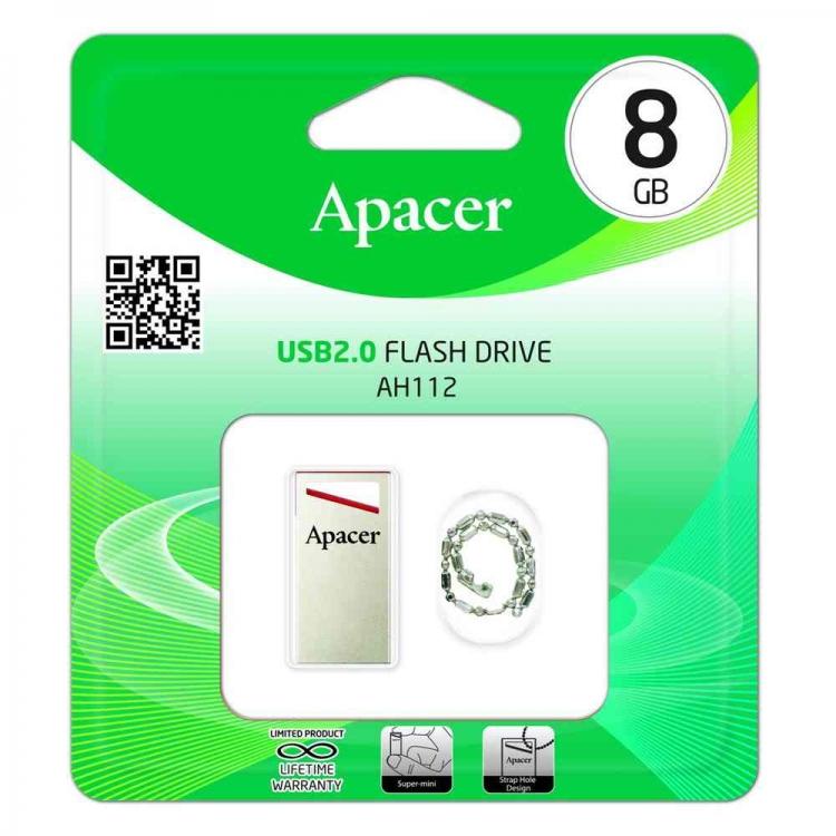 دیدنگار|فلش مموری|فلش مموری 8G اپیسر USB Flash 112 Apacer 8G USB 2
