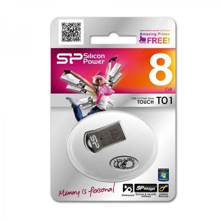 دیدنگار|فلش مموری|فلش مموری 8G سیلیکون پاور USB Flash T01 Siliconpower 8GB USB 2