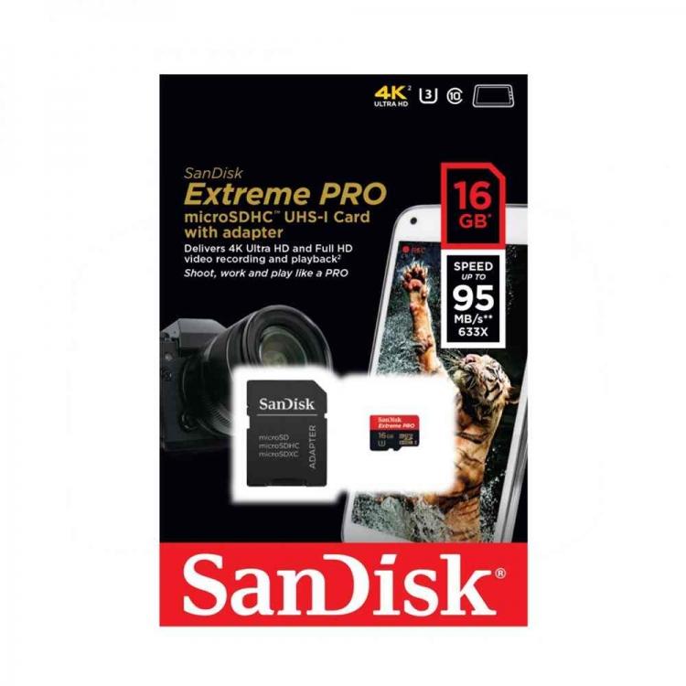 دیدنگار|کارت میکرو اس دی|micro sd card|رم موبایل میکرو اس دی Micro SD Sandisk 16GB – 95MB/s 4K