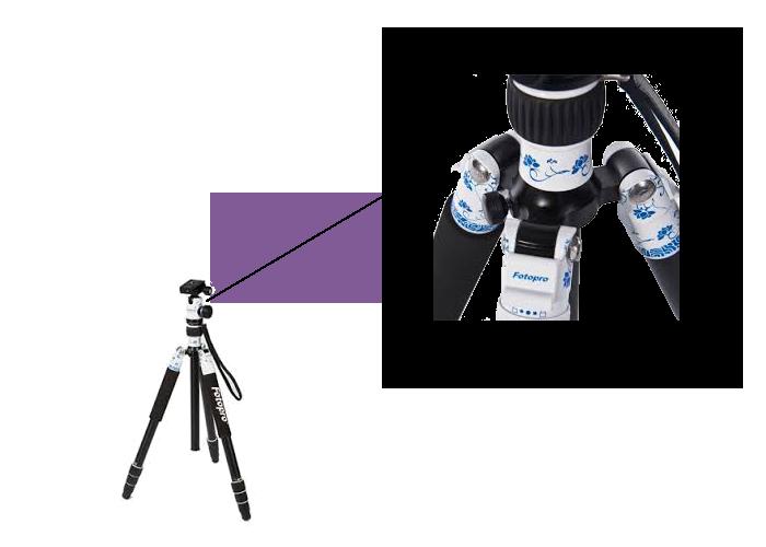 سه پایه دوربین نیمه حرفه ای فتوپرو Fotopro Tripod X50iW+52Q white