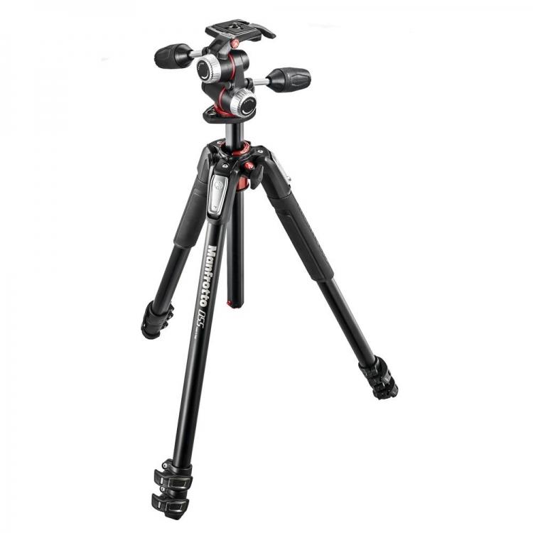 دیدنگار سه پایه سه پایه دوربین حرفه ای مانفروتو Manfrotto MK055XPRO3-3W