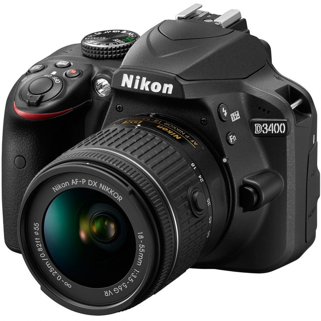 دوربین عکاسی نیکون Nikon D3400 با لنز ۵۵-۱۸ AF-P VR