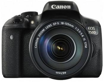 دوربین عکاسی کانن Canon 750D با لنز 135-18 IS STM