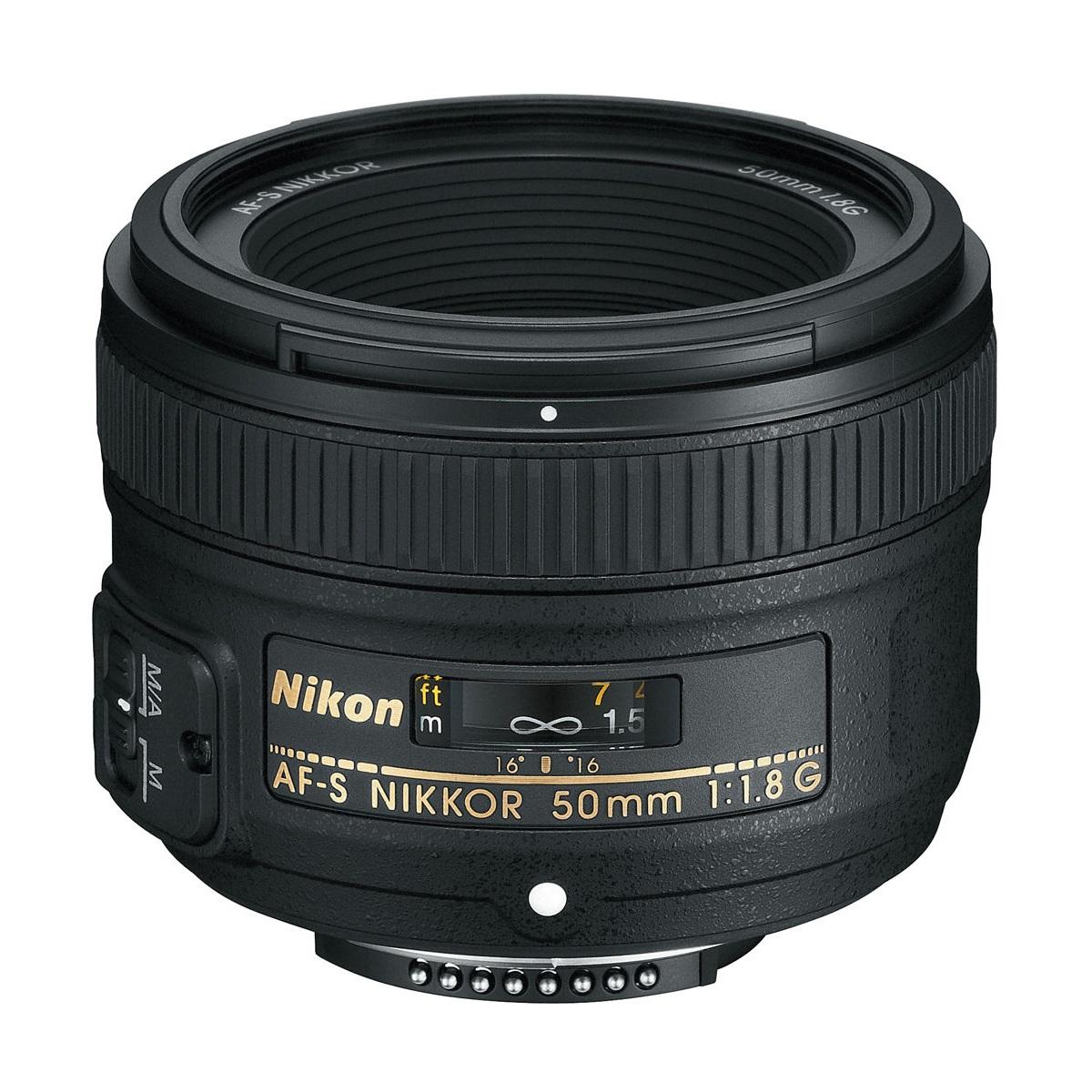 لنز دوربین عکاسی 50 میلیمتر نیکون | NIKON AF-S NIKKOR 50mm F/1.8G Camera Lens