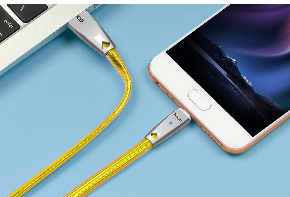 کابل شارژ رابط USB به لایتنینگ هوکو مدل U9 به طول ۲ متر
