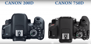 مقایسه دوربین عکاسی ۷۵۰D با ۲۰۰D
