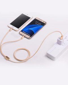 کابل تبدیل USB به 8pins و MicroUSB هوکو مدل X۲ Rapid