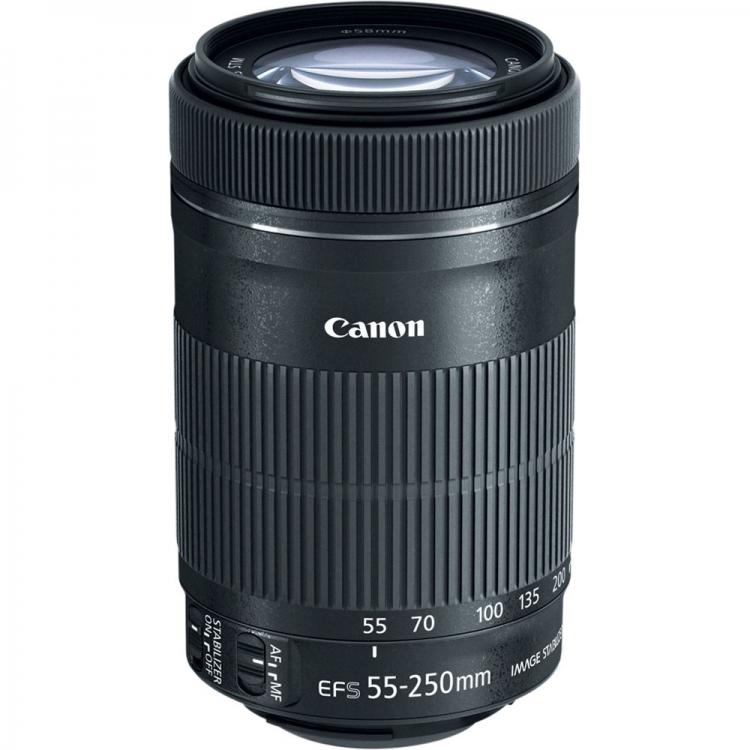 دیدنگار|لنز کانن canon|لنز کانن Canon EF-S 55-250mm f/4-5.6 IS STM