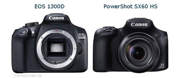 مقایسه دوربین کانن SX60 با دوربین کانن ۱۳۰۰D