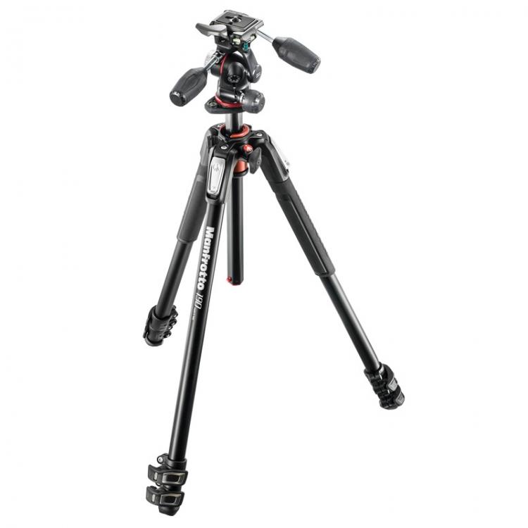 دیدنگار|سه پایهسه پایه دوربین حرفه ای مانفروتو Manfrotto MK190XPRO3-3W