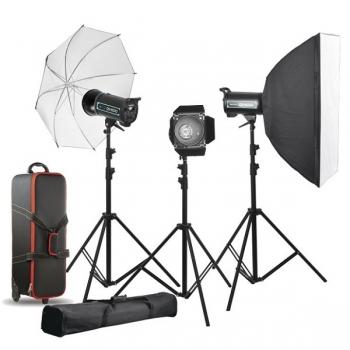 دیدنگار|فلاش استودیویی|کیت فلاش چتری استودیویی ۴۰۰ ژول  S&S QS-400 II