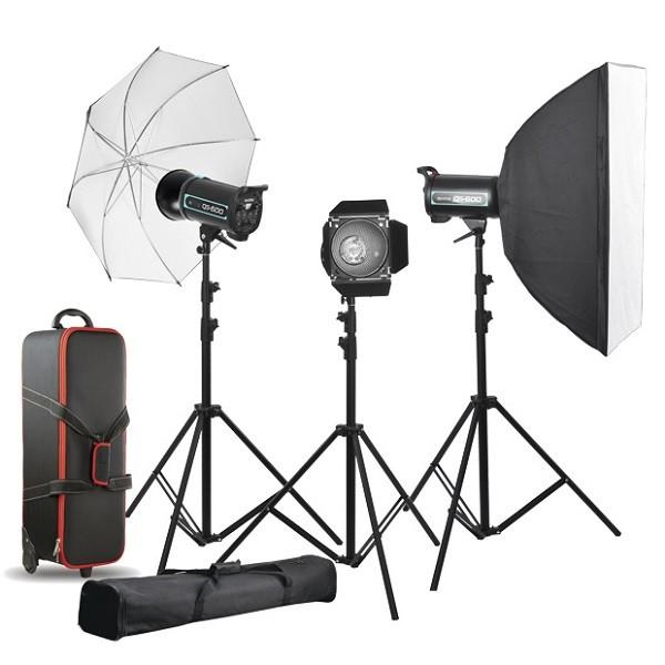 کیت فلاش چتری استودیویی ۴۰۰ ژول  S&S QS-400 II