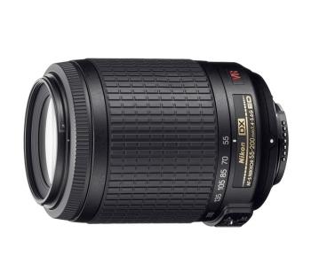 دیدنگار لنز نیکون nikon لنز Nikon AF-S DX Nikkor 55-200 mm f/4-5.6G VR II