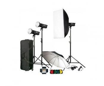 دیدنگار|فلاش استودیویی|کیت فلاش چتری استودیویی ۳۰۰ ژول S&S TC-300