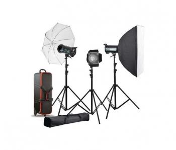 دیدنگار|فلاش استودیویی|کیت فلاش چتری استودیویی ۳۰۰ ژول  S&S QS-300 II