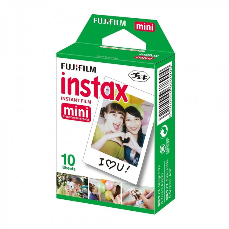 کاغذ 10 عددی / فیلم دوربین چاپ سریع فوجی فیلم Instax mini طرح سفید