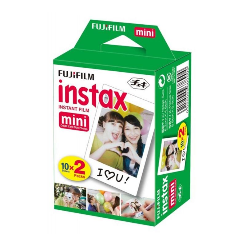 کاغذ 20 عددی / فیلم دوربین چاپ سریع فوجی فیلم Instax mini طرح سفید