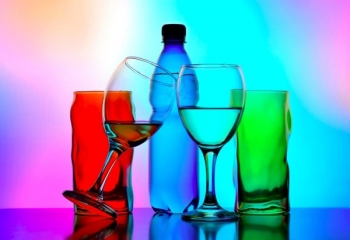 عکاسی از ظرف شیشه ای