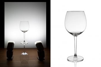 عکاسی از لیوان شیشه ای