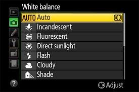 تنظیمات مربوط به وایت بالانس در دوربین عکاسی