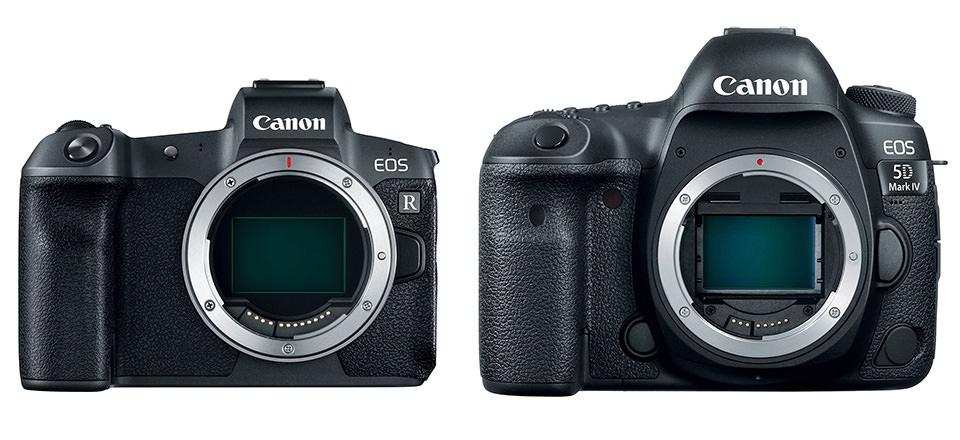 مقایسه دوربین Canon EOS R و دوربین کانن 5D Mark IV