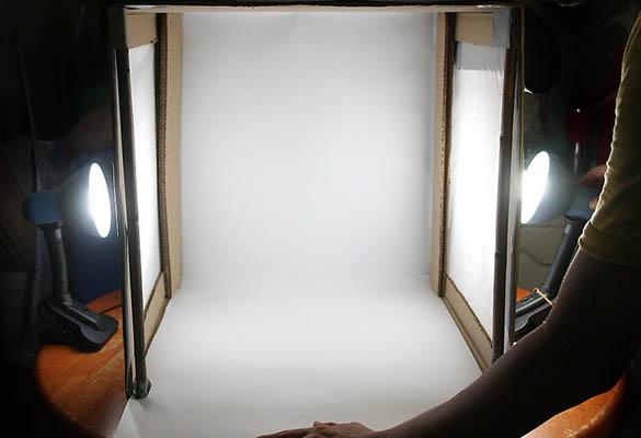 ترفند ساخت خیمه عکاسی با کمترین هزینه