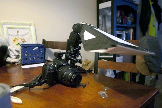 ساخت دیفیوزر فلاش دوربین