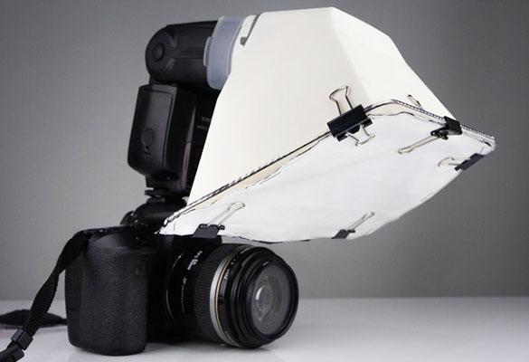 ترفند ساخت دیفیوزر فلاش دوربین ارزان