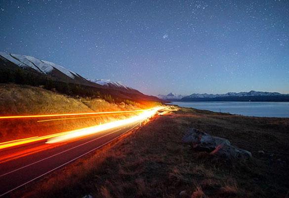 عکاسی از چراغ ماشین ها
