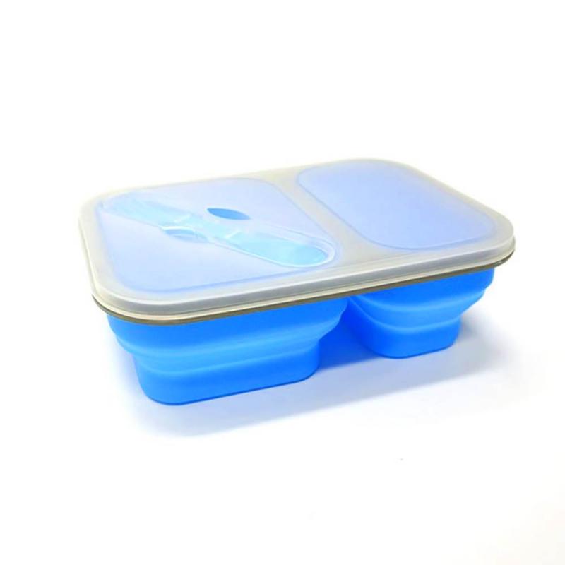 ظروف تاشوی سیلیکونی کمپینگ (آبی)