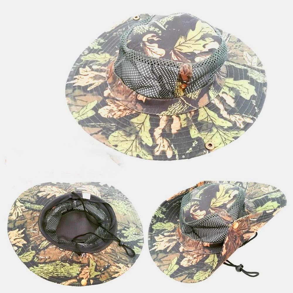 کلاه ماهیگیری توری دار مدل استتار جنگلی آمریکایی