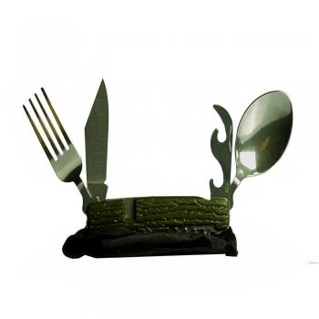 مجموعه قاشق چنگال و چاقو تاشو سفری