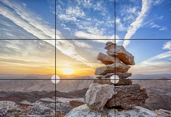 تکنیک های عکاسی طبیعت : قانون یک سوم در عکاسی طبیعت
