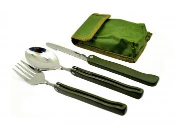 ست قاشق چنگال و چاقوی تاشوی سفری مدل K 603