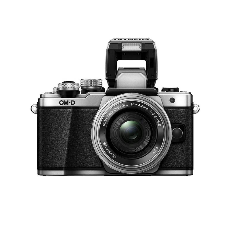 دوربین حرفه ای بدون آینه الیمپوس Olympus OM-D E-M10 با لنز 14-24 میلی متر نقره ای