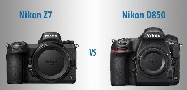 مقایسه دوربین نیکون Z7 با دوربین نیکونD850