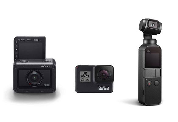 مقایسه سه دوربین سونی RX0 II و گوپرو هیرو 7 بلک و اسمو پاکت