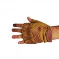 دستکش بدون انگشت مدل مکانیک (دستکش کوهنوردی- کمپری) کرم رنگ