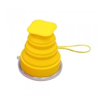 لیوان تاشو سیلیکونی زرد