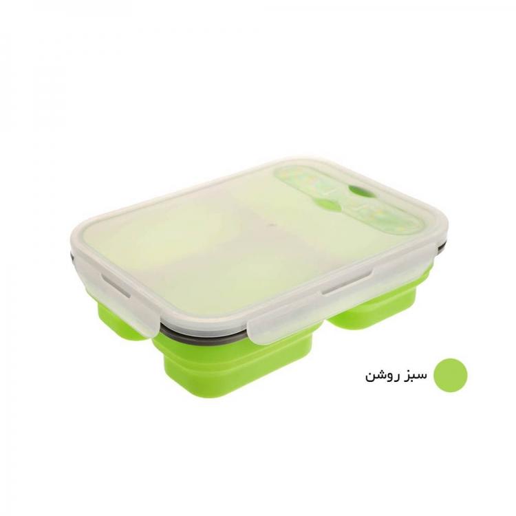 ظروف تاشوی سیلیکونی کمپینگ (سبز)