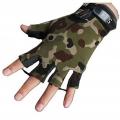 دستکش نیم انگشت کوهنوردی تاکتیکال (سبز استتاری )
