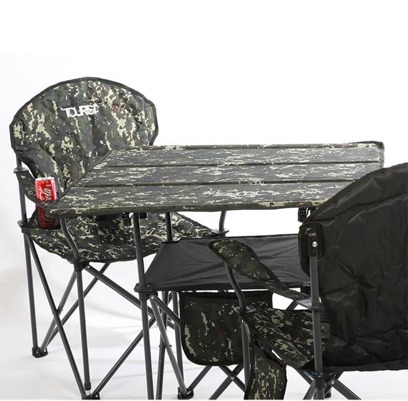 ست میز و صندلی تاشوی دو طبقه مسافرتی