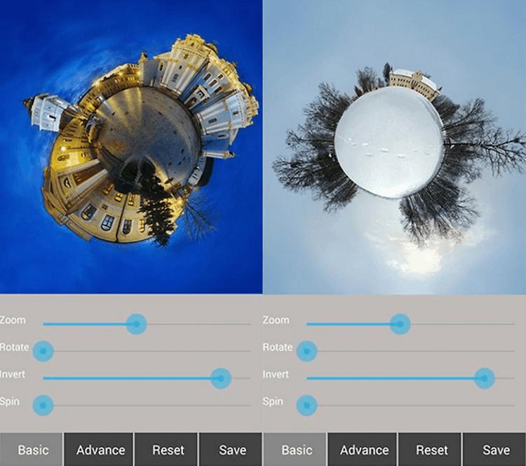 نرم افزار Tiny Planet FX Pro برای اندروید