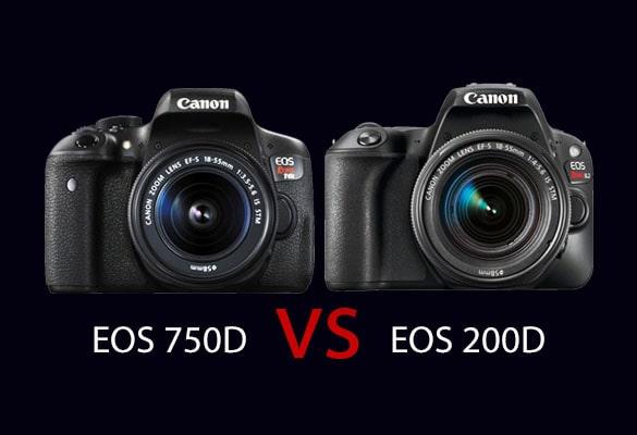 مقایسه دوربین کانن 750D با کانن 200D