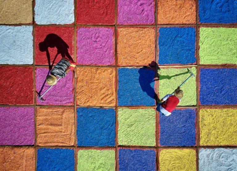 عکاسی هوایی از مردم