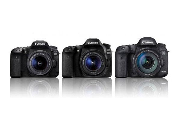 تفاوت دوربین کانن 90D با 80D و 7D Mark II