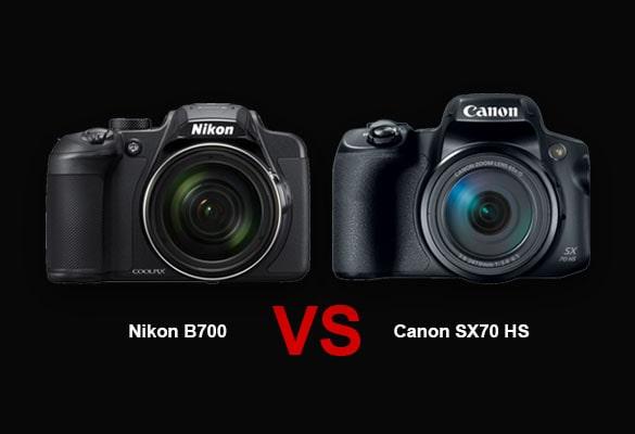 مقایسه دوربین نیکون B700 با کانن SX70